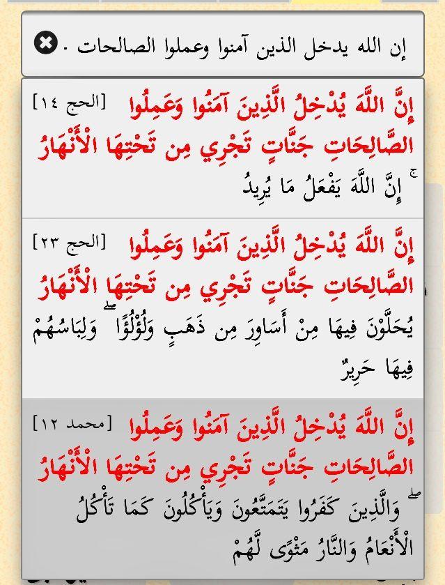 الحج ١٤ ٢٣ إن الله يدخل الذين آمنوا وعملوا الصالحات جنات تجري من تحتها الأنهار مع محمد ١٢ Quran Math Math Equations