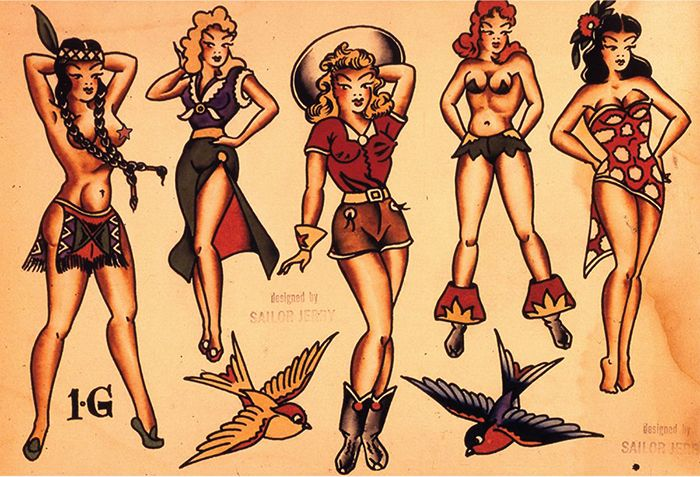 Pin-ups Sailor Jerry