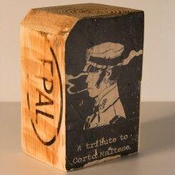 Foto Transfer Corto Maltese madera reciclada palet