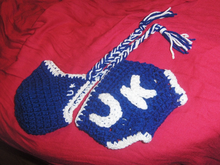 U.K. hat and diaper cover I made