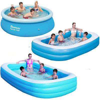 Bestway #large #paddling garden pool kids fun family swimming #outdoor inflatable,  View more on the LINK: http://www.zeppy.io/product/gb/2/351067661224/