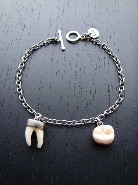 Split Wisdom Tooth Bracelet by charlotteburkhart on Etsy, $210.00