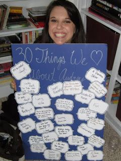 """Bright Green Door Blog: 1/2 Minute to Win It 30th Birthday Party """"30 things we…"""