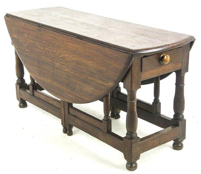 Details About Antique Gateleg Table Oak Drop Leaf Table George
