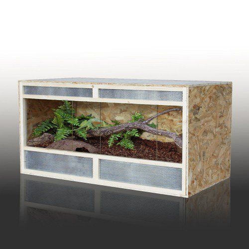 HOMCOM 4ft Reptile Vivarium Wooden House Pet Habitat Leopard Geckos Home | aosom.co.uk