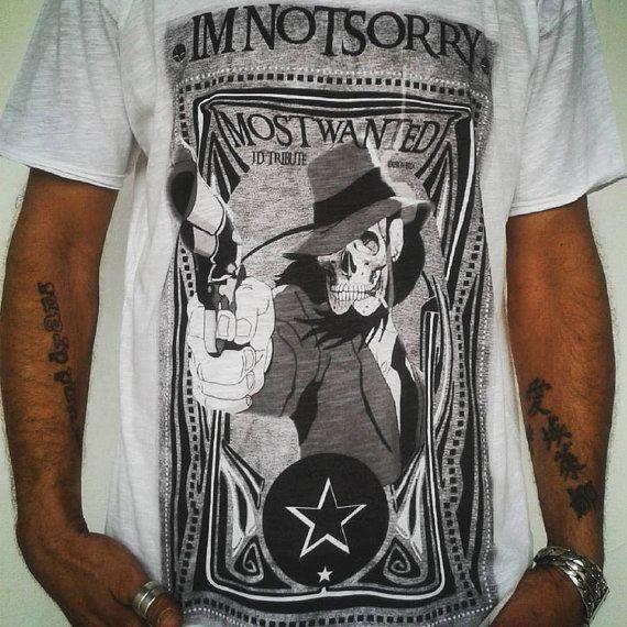 T-Shirt uomo cotone bianca  JIGEN Icon Tribute  di IMNOTSORRYIBIZA