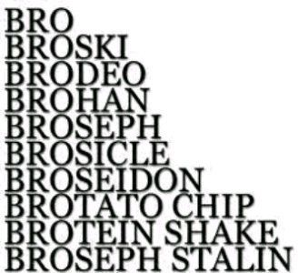Bro can always be added before a word to make it cooler