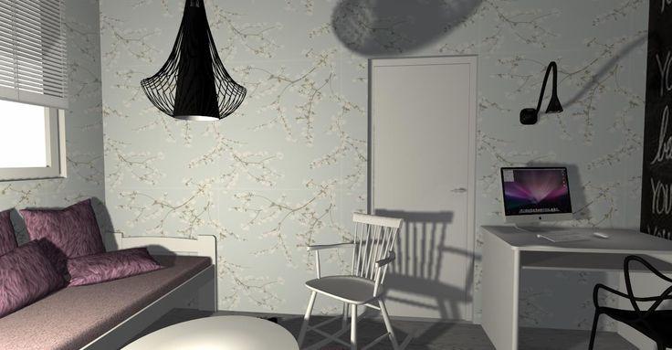 pokój nastolatki, proj, dla klienta www.soluzioni.com.pl