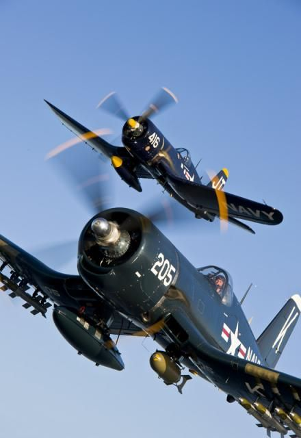 F-4U Corsairs I've really grown to love the design of this aircraft.
