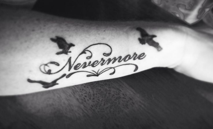Quoth the raven, Nevermore Edgar Allan Poe Tattoo Army Navy Tattoo ...