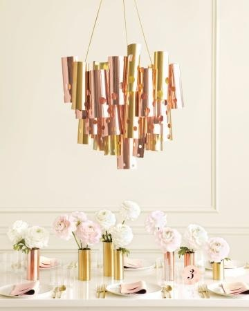 DIY Metallic Chandelier ~~ How-To
