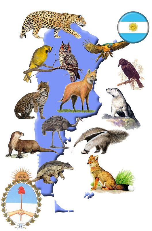 animales extintos y en extinción en la República Argentina.