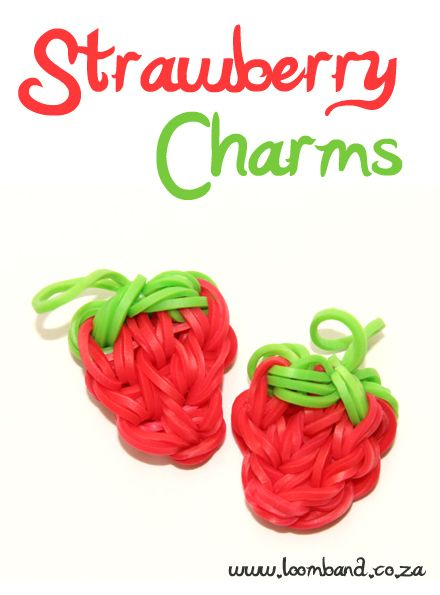 Strawberry Loom Band Charm Tutorial, instructions and videos on hundreds of loom band designs. Shop online for all your looming supplies, delivery anywhere in SA.