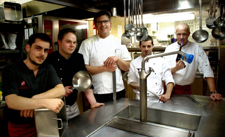 Our fantastic kitchen team with chef Mike Werner.