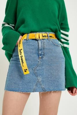 iets frans… Slogan D-Ring Belt   Urban Outfitters