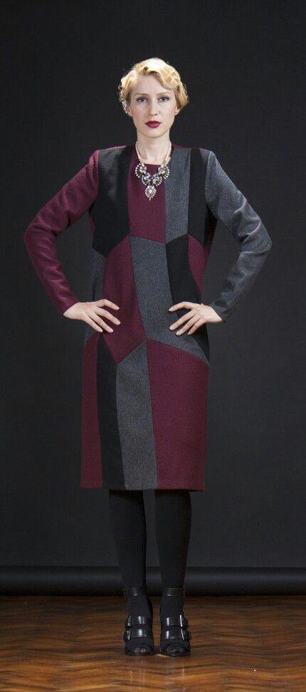 #fashion #winter2014 #collection #mydesign #black #burgundy #grey #20sfashion #charleston #geometric #capsule #collection #maradu #lookbook Photography by : Milan Stojanovic Model : Danijela Ristic