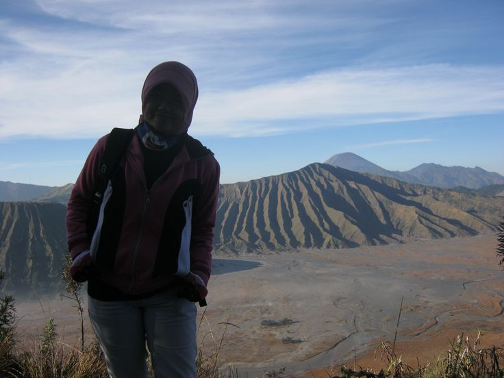 With the beautiful mountain #bromo