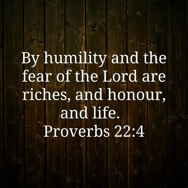 #VOTD Conrad Rocks the Verse of the Day Proverbs 22:4