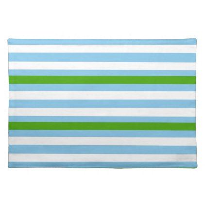 Refreshing Green Blue Placemat - ocean side nature waves freedom design