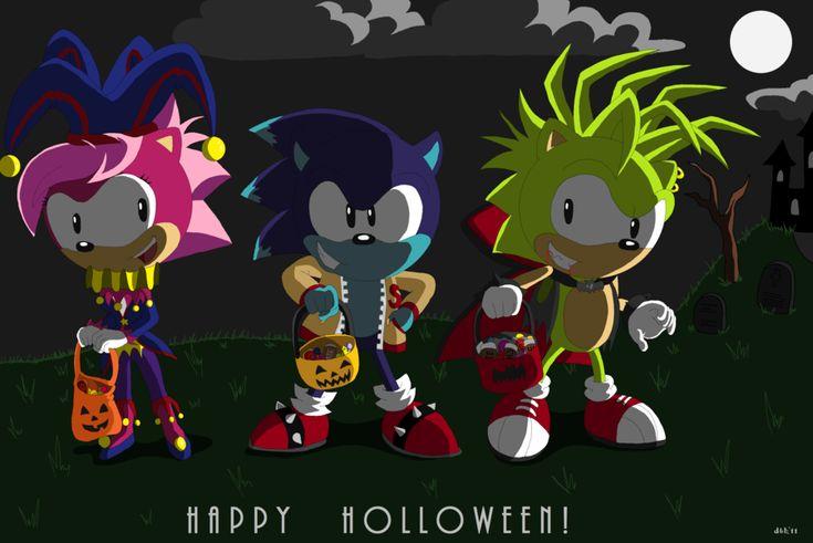 Sonic Underground Holloween by Domestic-hedgehog.deviantart.com on @deviantART