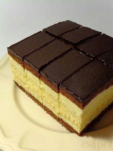 Chocolate and custard