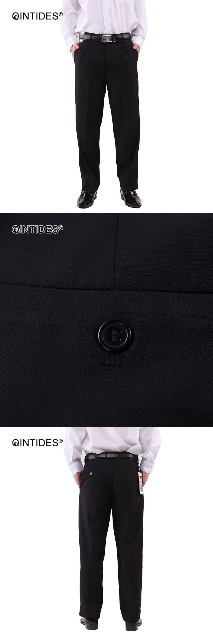 QINTIDES Hotel work overalls trousers Business suit pants Black trousers suit trousers