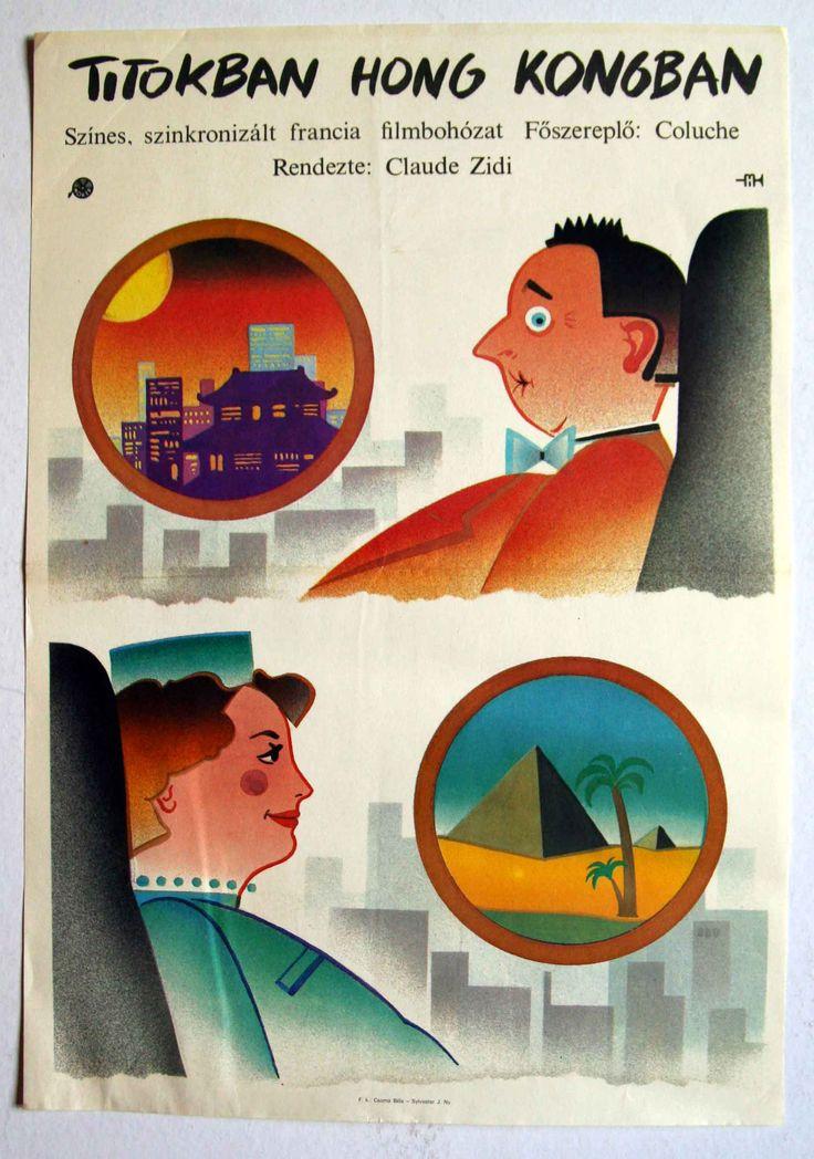 "Titokban Hongkongban (1983) ""Banzaï""  Director: Claude Zidi  Hungarian vintage movie poster"