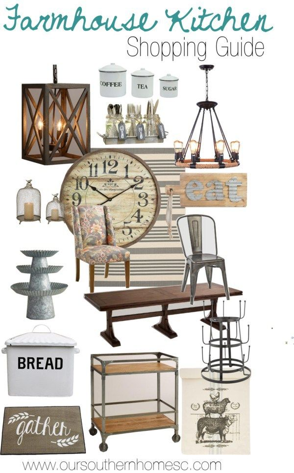 Farmhouse Kitchen & Dining shopping guide to get that cozy look!