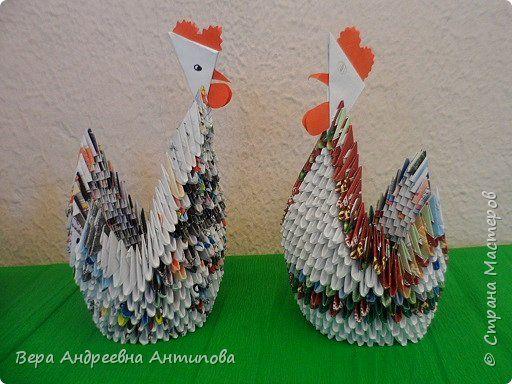 Модульные лебеди оригами фото