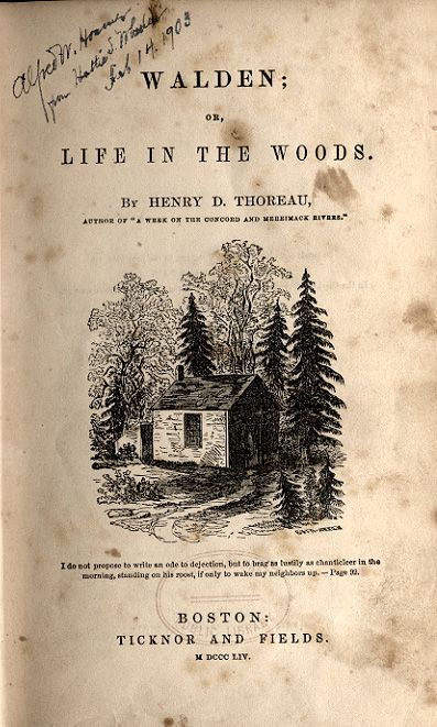 an analysis of walden a book by henry david thoreau Walden is a difficult book it is full of outrageous exaggerations and teasing paradoxes thoreau loves words, uses them beautifully, but at times loves their walden or, life in the woods, by henry david thoreau.