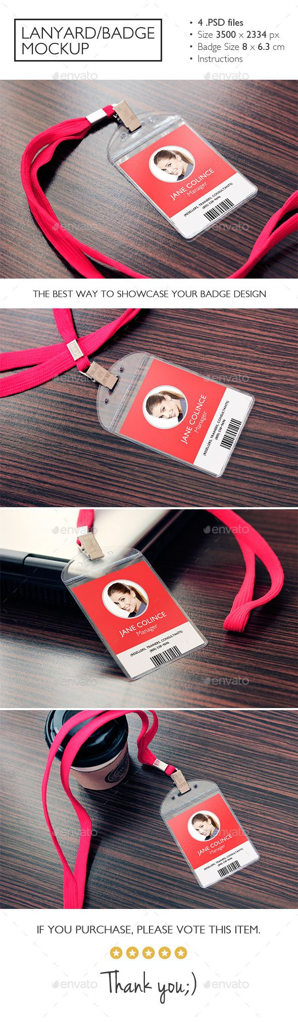 Lanyard/Badge Mockup | Download: http://graphicriver.net/item/lanyardbadge-mockup/11037634?ref=ksioks