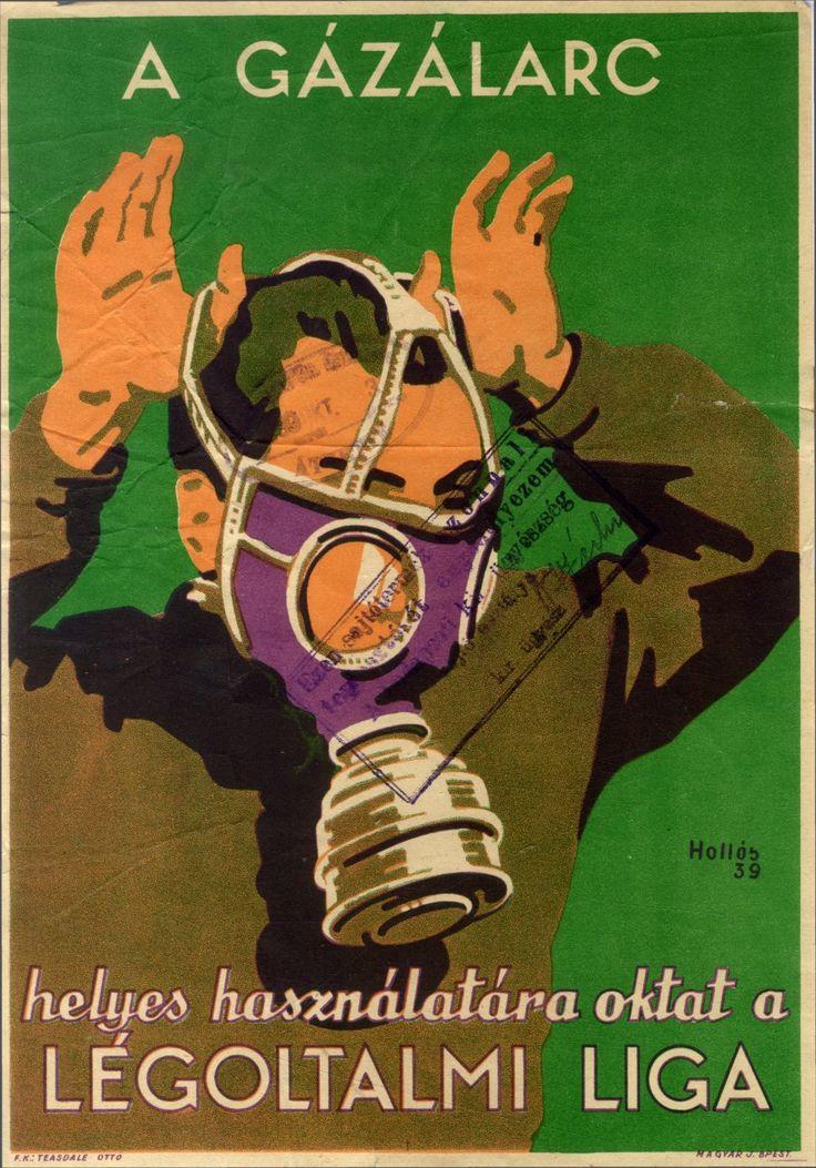 Hollós Endre - A gázálarc, 1939