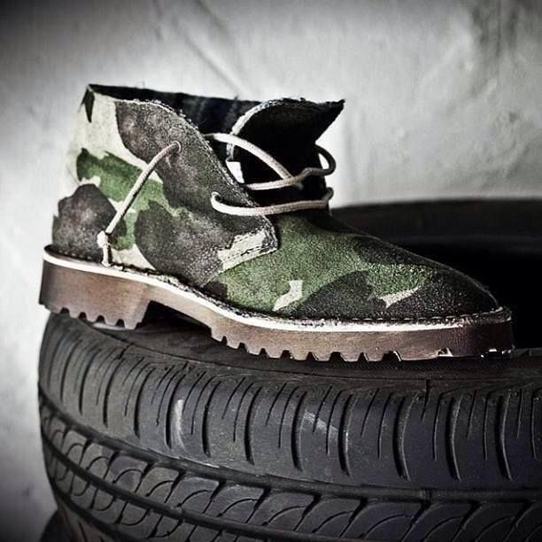 Must have! LeCrown desert boot camouflage F/W 2013-14