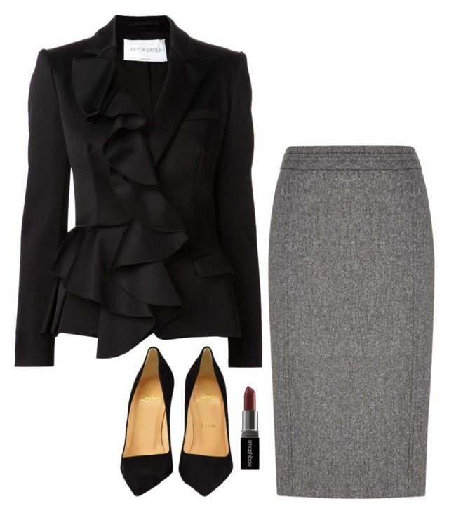 """""""Jessica Pearson Inspired Sets"""" by daniellakresovic ❤ liked on Polyvore featuring Austin Reed, Viktor & Rolf, Smashbox and Christian Louboutin"""