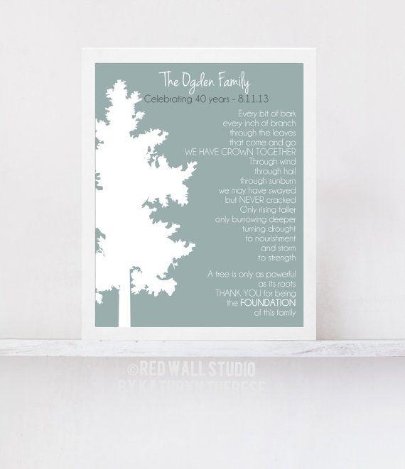 Gift For Pas Grandpas Wedding Anniversary Family Tree Art Print Poem Grandpa