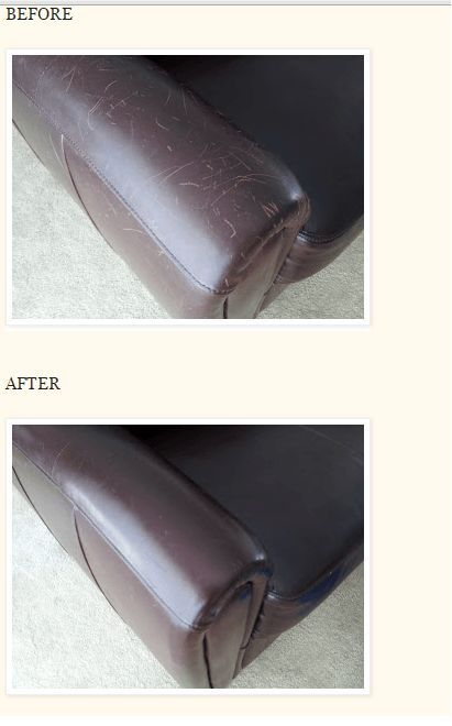 Remove purple stain from a white leather couch?