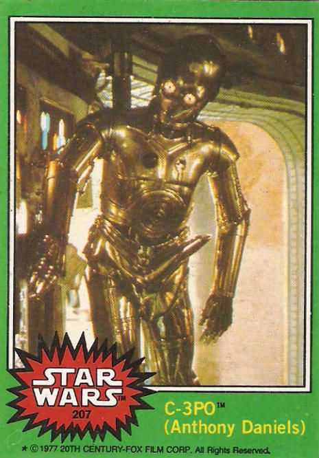 The C-3PO with a Boner Star Wars Trading Card from Topps