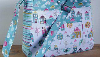 Petite Street Diaper Bag - PDF Sewing Pattern + Attaching an Adjustable Strap