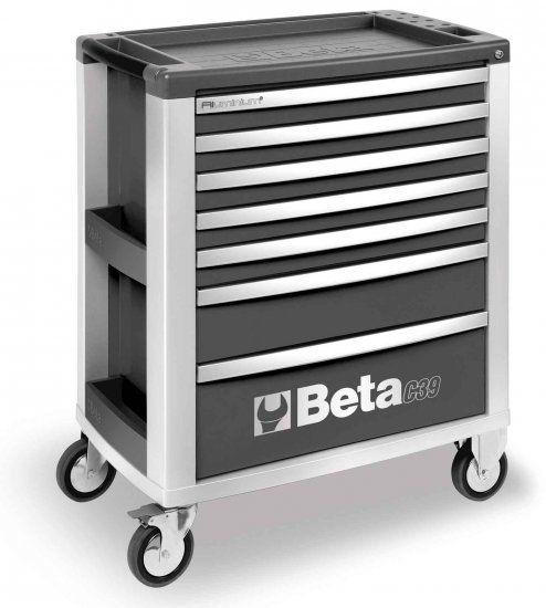 Cassettiera mobile BETA C39-7 con 7 cassetti grigia vuota