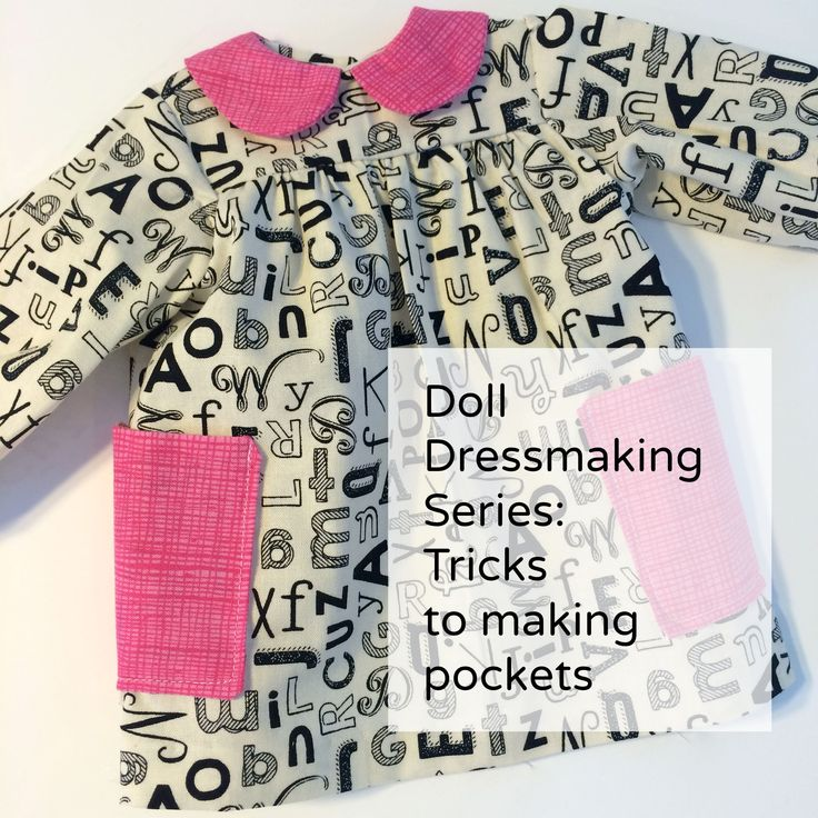 Doll Dressmaking Series: A trick for pockets