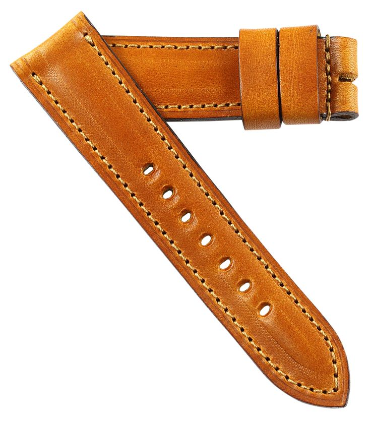 Mario Paci for Panerai Tang buckles in Antiqued gold leather.  A magnificent strap for your OEM buckle