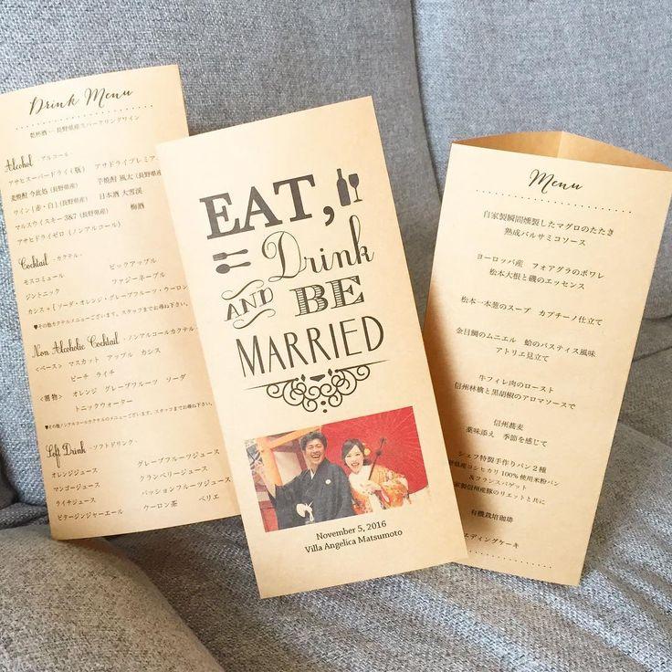 結婚披露宴のドリンクメニュー表について