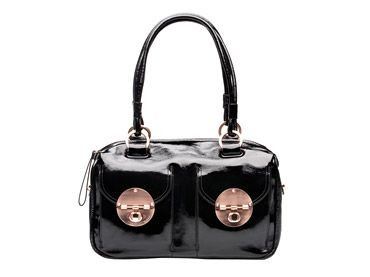 Love this black and rose gold Mimco bag