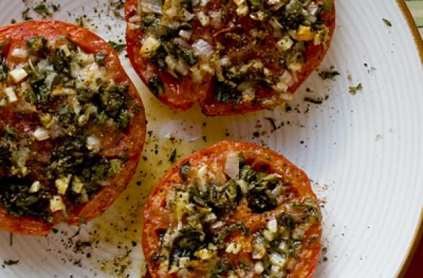 Foodista | Recipes, Cooking Tips, and Food News | Stuffed Beefsteak Tomato