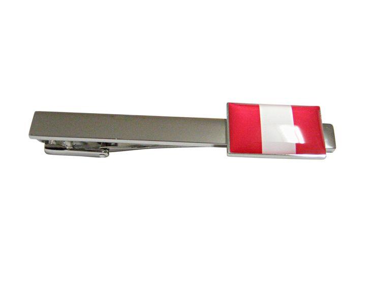 Peru Flag Pendant Tie Clip