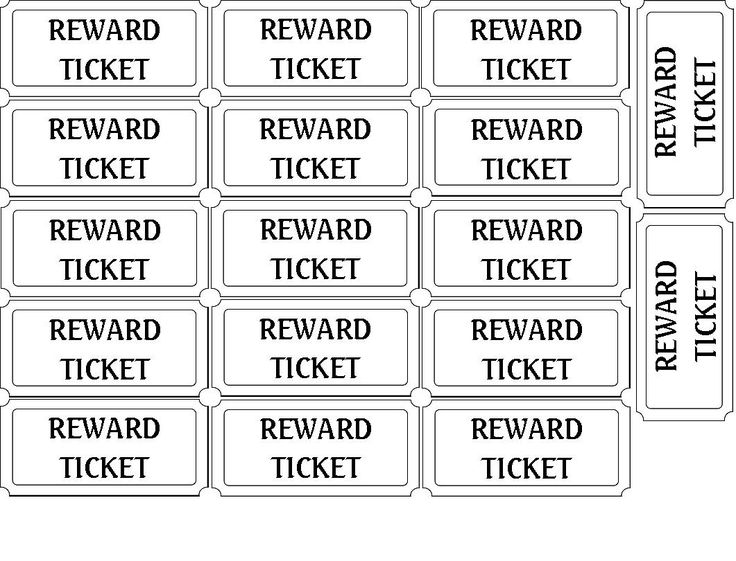 I Have Spent The Last Few Months Trying My Hardest To Come Up With A Chore. Ticket  Template ...  Printable Blank Tickets
