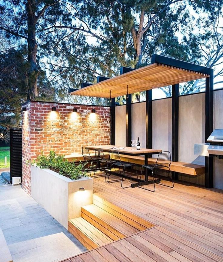 Pihakatos, pergola, moderni terassikatos / simple pergola, industrial style terrace