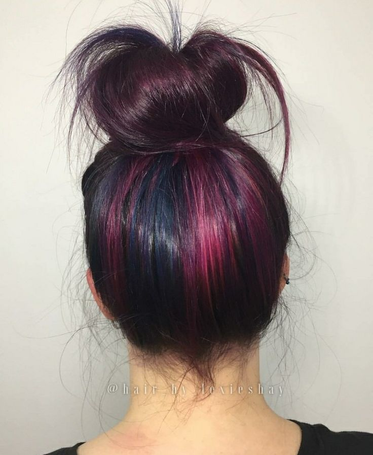 Flick of Color in her bun