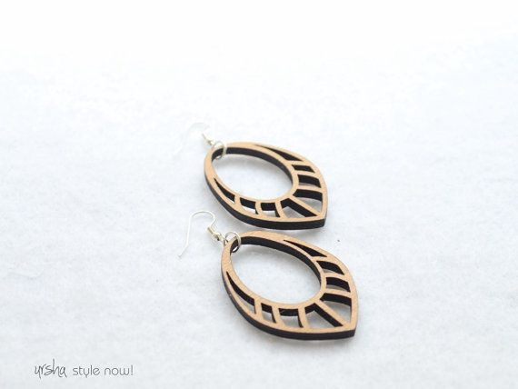 Sprit wooden earrings  BIO colleciton www.facebook.com/urshastylenow