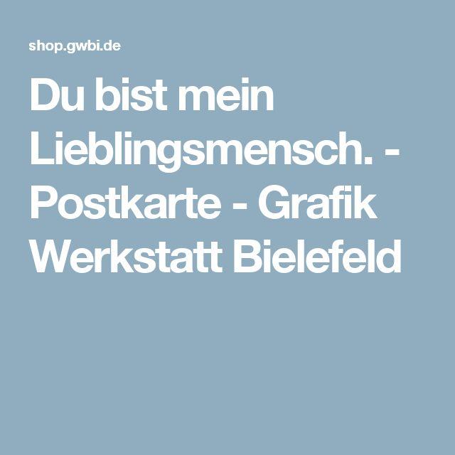Du bist mein Lieblingsmensch. - Postkarte - Grafik Werkstatt Bielefeld